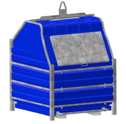 container bleu